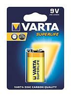 Батарейка varta superlife 6f22 bli 1 zinc-carbon