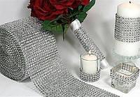 Лента для бордюров декоративная Серебро 1м