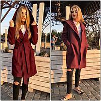 Женское свободное пальто с пояском (4 цвета)
