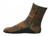 Шкарпетки підводного полювання AquaDiscovery Open Cell Camo Brown 7 мм
