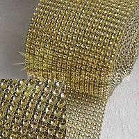 Лента для бордюров декоративная светлое золото 1м