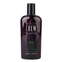 Засіб по догляду за волоссям і тілом з чайним деревом 3-в-1 American Crew Tea Tree 3-in-1 ml 450