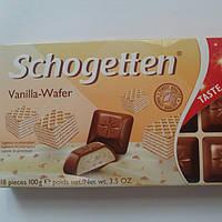 Шоколад Молочный Ваниль-Вафля Schogetten 100г