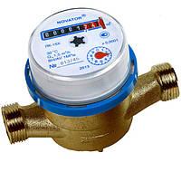 Счетчик холодной воды Новатор ЛК 15х, одноканальный, погрешность ±5%, штуцерное соединение
