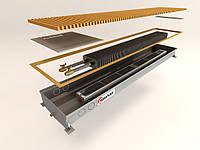 Внутрипольный конвектор дренажный с вентилятором переменного тока, повышенной тепловой мощности,125 мм,