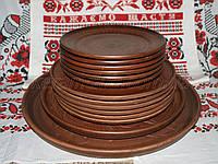Глиняный набор тарелок и блюд