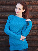 Вязаный свитер Соты, фиалка, фото 1