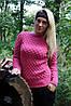 Вязаный свитер Соты, клевер