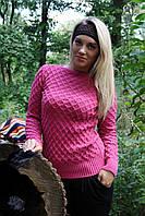Вязаный свитер Соты, клевер, фото 1