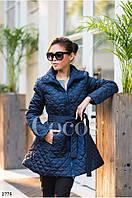 Пальто женское ,Плащевка стёганная на силиконе 150й плотности, цвет Черный ,синий ,хаки ал № 08241