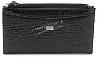 Стильный кожаный лаковый женский кошелек черного цвета Helen art. 2489T-67, фото 1