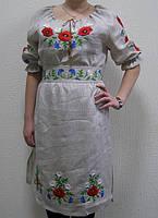 "Платье вышитое ""Маки, ромашки, волошки"" ( арт. PK9.1-28.33.16 ), фото 1"