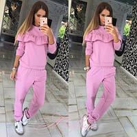 Костюм спортивный женский , ткань двунитка, цвет бирюза, розовый и серый ,хорошее качество юкрас № 181300