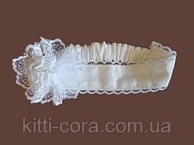 Кружевная повязка на голову для крещения