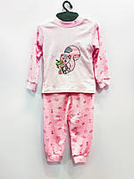 Трикотажная пижама Вышивка (розовая), интерлок