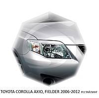 Реснички на фары Toyota COROLLA AXIO, FIELDER 2006-2012  г.в. рестайлинг Тойота Корола