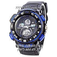 Часы мужские наручные Casio G-Shock Twin Sensor Black-Blue