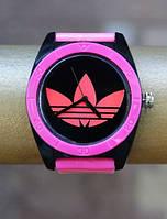 Спортивные часы Adidas, Адидас розовые с черным