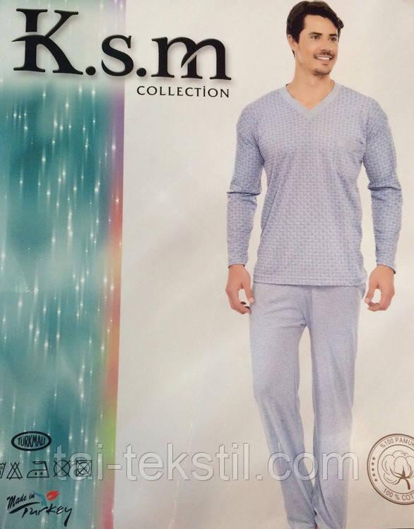 2d64918045b1 KSM пижама мужская на байке рисунок в ромбик Турция -