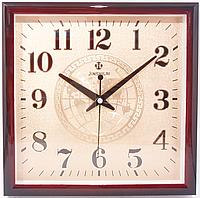 Часы настенные квадратные в корпусе под цвет дерева( 312 х 312 )