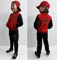 Детский спортивный костюм Бомбер красный