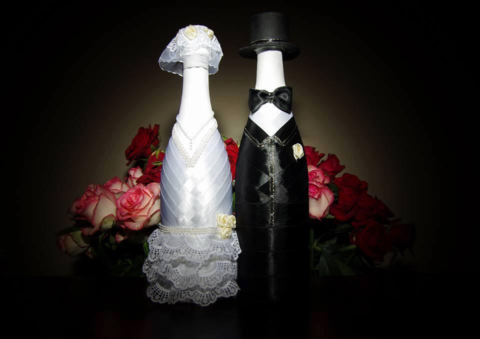 Весільне шампанське Наречений і наречена