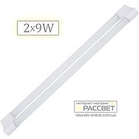 Светодиодный LED светильник (балка) Feron AL5012 2x9W (замена люминесцентным светильникам ЛПО Т8) 60см, фото 1