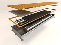 Внутрипольный конвектор дренажный с вентилятором постоянного тока, повышенной тепловой мощности,125 мм,