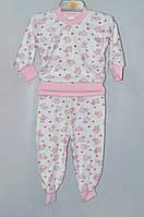Детская пижама для девочки Велюр Байка 1-3 года
