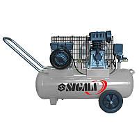 Компрессор двухцилиндровый ременной 2.5кВт 335л/мин 10бар 50л (2 крана) Sigma
