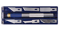 Набор ножей моделярских 6шт + держатель Sigma