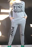 Спортивный костюм женский серый