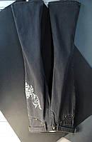 Штаны подростковые серые с вышивкой