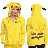 Толстовка женская Pokemon go Pikachu