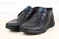 Черные мужские туфли-мокасины осенняя коллекция 2016