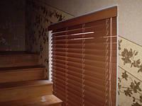 Жалюзи бамбуковые горизонтальные Бамбук 50 мм черешня и другие производство под заказ