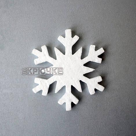 Снежинка из пенопласта резная плоская №5, 100 мм