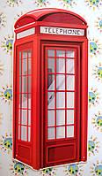 Телефонная будка. Настенная декорация для кабинета английского языка 70х315 см