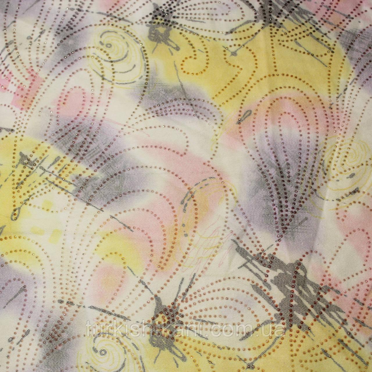 Ткань  Джинс  с люрексом
