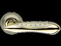 Дверная ручка на розетке Armadillo Corvus LD35-1AB/SG-6 бронза/матовое золото