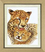 """Набор для вышивания крестом Crystal Art """"Семья гепардов"""""""