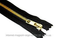 Застежка-молния в джинсы черная.синяя Gold 18см