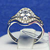 Серебряное фаланговое кольцо с фианитом Княгиня 102-р
