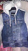 Джинсовая демисезонная куртка на байке 146р
