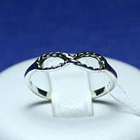 Серебряное кольцо Восьмерка с чернением 1049