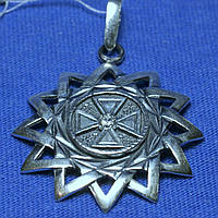 Серебряная подвеска с цирконом Эрцгамма 3950-ч, фото 1