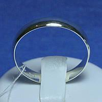 Гладкое серебряное кольцо 4015, фото 1
