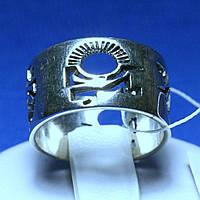 Широкое серебряное кольцо без вставок Танец Майя 4360 мм, фото 1