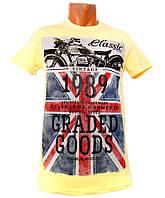 Мужская желтая футболка Highlander - №1600
