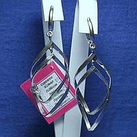 Крупные серебряные серьги Мираж 21006, фото 1